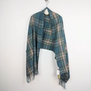 Forever 21 Plaid Teal Blanket Scarf - NWT